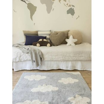 Lorena Canals Clouds Grey. 100% katoenen vloerkleed