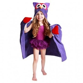 Zoocchini Kids badcape - Olive the Owl