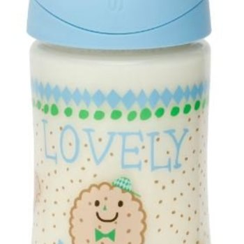 Suavinex Babyfles 270 ml Blue Biscuit Anat.