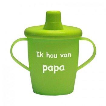 Kiddyboo Love Cups - I hou van PAPA - Groen