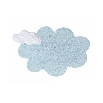 Lorena Canals Vloerkleed blauwe Wolk & wolken Kussen - 100% Katoen