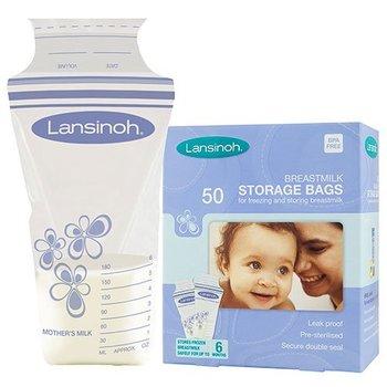 Lansinoh Bewaarzakjes voor borstvoeding - 50 stuks