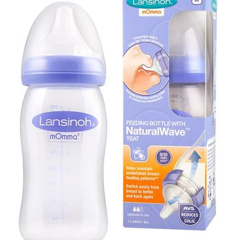 Lansinoh Natural wave fles mOmma - 240 ml