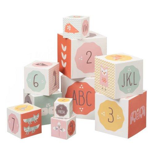 Fresk 10 stuks blokken - Blokkendoos Roze