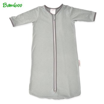 Smallvips Bamboe zeer dunne zomer slaapzak met extra lange mouwen tegen muggen!