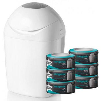Sangenic Tec tub Starterspack White luieremmer met 6 casettes