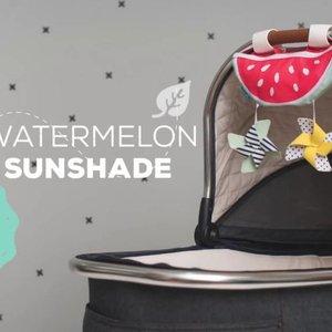Taf Toys Universeel Zonnescherm Met Speeltjes - Watermeloen