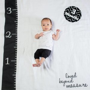 Lulujo Swaddle & Cards - Loved beyond measure