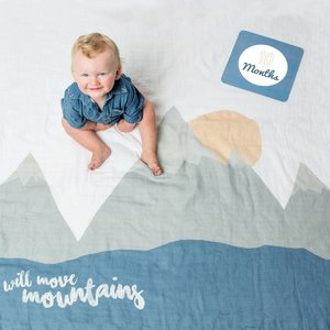 Lulujo Swaddle & Cards - I will Move Mountains