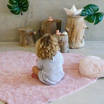 Lorena Canals Vloerkleed Roze Hartje met Kussen - 100% Katoen