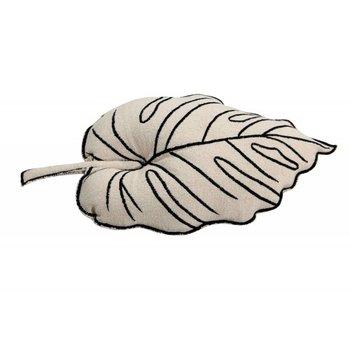 Lorena Canals Wasbaar Katoenen Sierkussen - Leaf