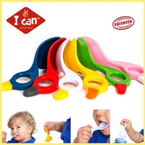 I Can 2 Unieke I Can babylepeltjes. Multi grip Spoon
