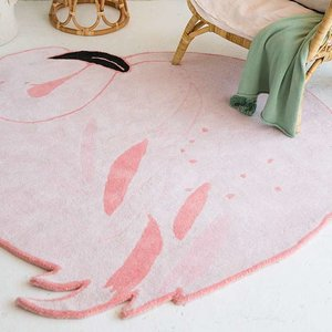 Lorena Canals Wool Rug Lola The Flamingo. 100% wollen vloerkleed