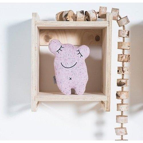 Jollein Knuffel Confetti monster natural - vintage pink