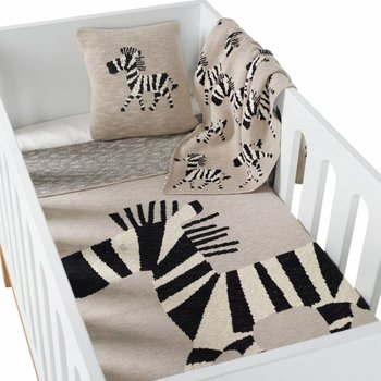 Quax Tricot - Dekentje Bed  - Zebra