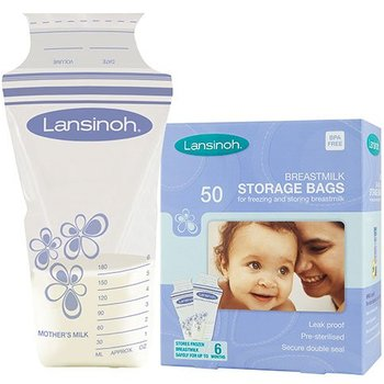 Lansinoh 2 x Bewaarzakjes voor borstvoeding - 50 stuks (100 stuks)