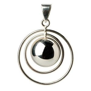 Babylonia Bola Silver plated dubbele buitenringen