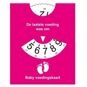 Roze Voedingskaart -  reminder