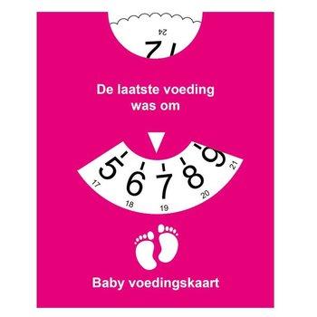 Baby Voedingskaart -  reminder Roze