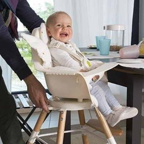 Childwood High chair kinderstoel Evolu one.80° Naturel/wit