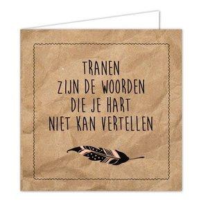 Hippe Kaartjes Wenskaart - Tranen