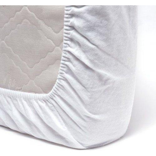 Flanellen Molton Matrashoes 60x120 cm - Wit hoeslaken