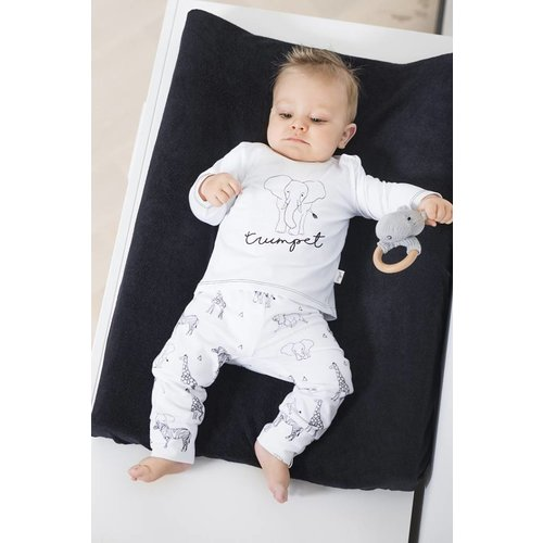 Jollein Bio katoenen T-shirt Safari black&white