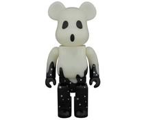 400% Bearbrick - Halloween 2015 (Black & Silver)