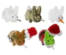 X-Mas Wonderland Super Fun Labbits Pack [5 pcs] by Frank Kozik