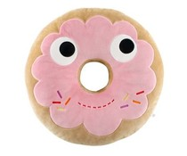Yummy Breakfast Donut Pink Plush (Medium) by Heidi Kenney