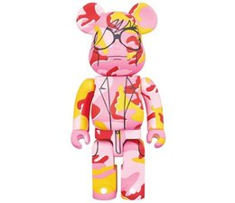 [Pre-Order] 1000% Bearbrick - Andy Warhol (Pink Camo)