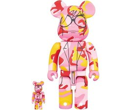 [Pre-Order] 400% & 100% Bearbrick set - Andy Warhol (Pink Camo)
