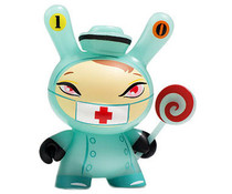 "Nurse Cackle (Skin - GID) 3/40 - Dunny ""The 13"" GID Dunny series by Brandt Peters"