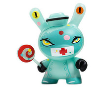 "Nurse Casket (Blue - GID) 3/80 - Dunny ""The 13"" GID Dunny series by Brandt Peters"