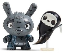 Grim Reaper Grampy 1/24 - Scared Silly  Dunny series