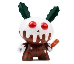 """3"""" Christmas Pudding Dunny by Kronk"""
