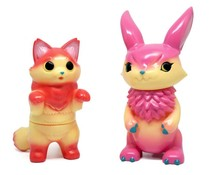 Fluffy Negora (Apple Pie) x Mimira (Raspberry Pie)  Set by Konatsu x DEVILROBOTS