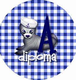 """Button """"Diploma A"""""""