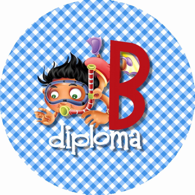 """Button """"Diploma B met duiker"""""""