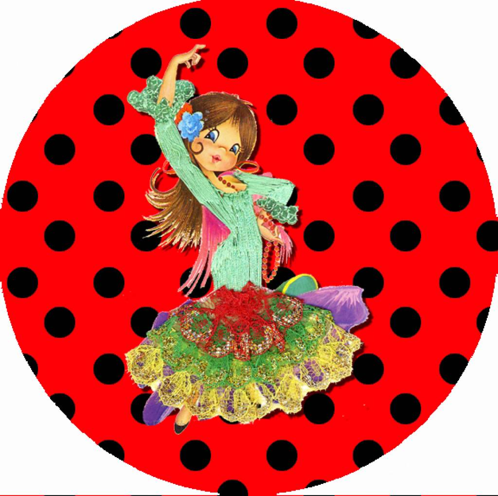"Button ""Spaanse danseres"""