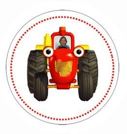 Uitnodiging tractor met foto