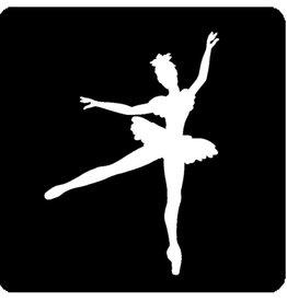 """Glittertattoo sjabloon """"ballerina"""""""