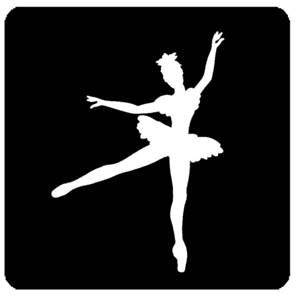 Glittertattoo Sjabloon Quot Ballerina Quot Traktatiecorner