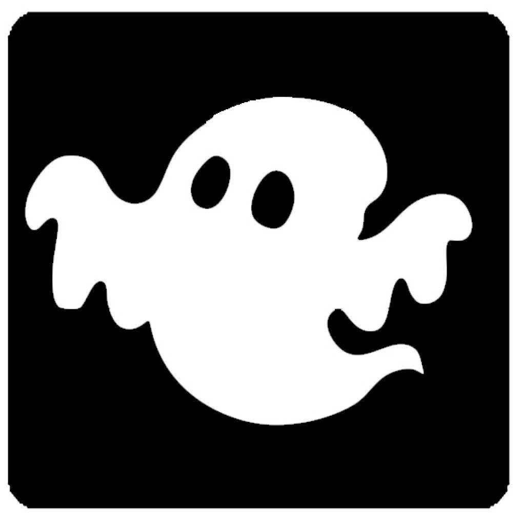 Glittertattoo sjabloon - spook