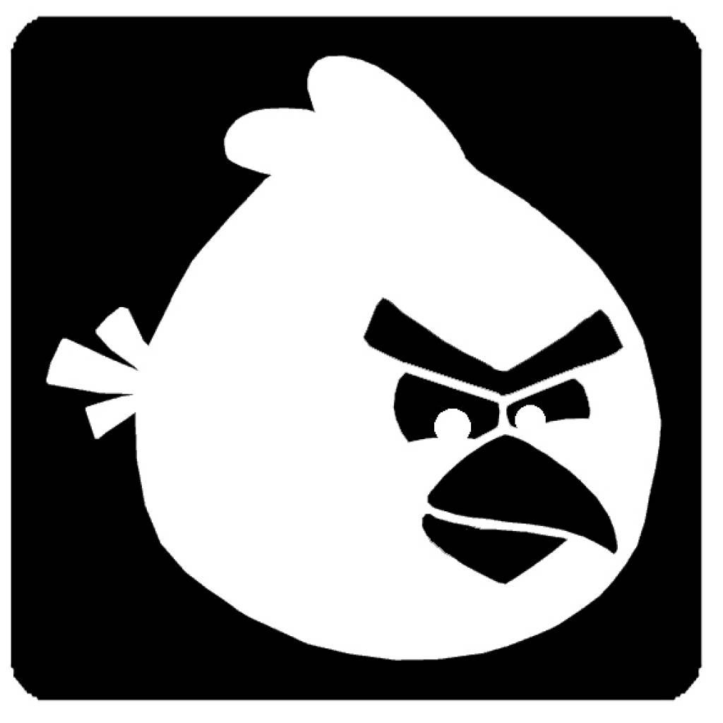 "Glittertattoo sjabloon ""Angry birds"""