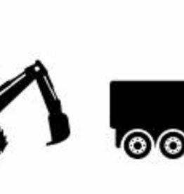 8 muurstickers landbouwvoertuigen enzo