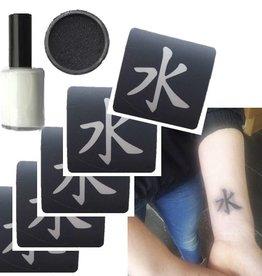 Tijdelijke tattoo set Ranomi Kromowidjojo