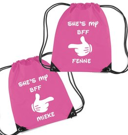 Twee rugzakjes BFF met naam