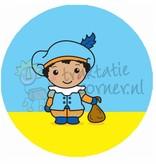 """Button """"Piet blauw"""""""