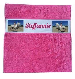 Handdoek met foto en naam